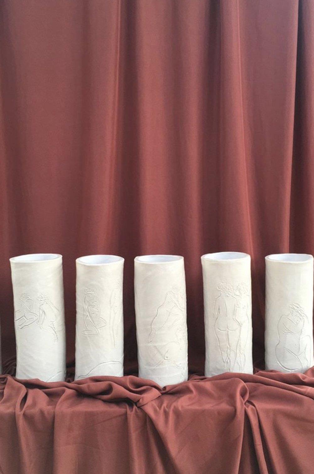 Ceramics - Alexandria Coe x Kana London sculptural vases.