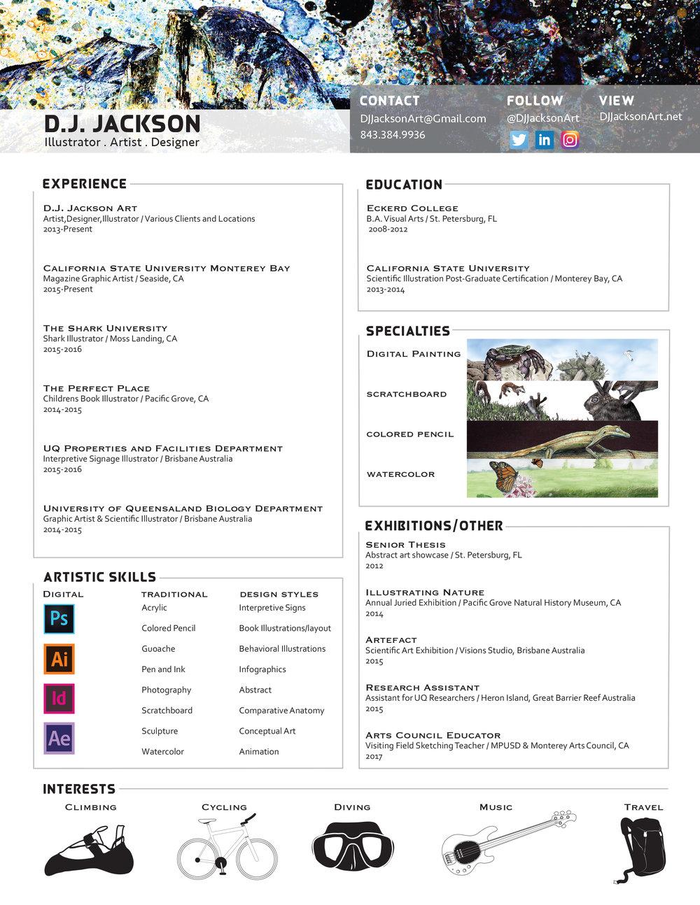 Resume — D.J. Jackson Art