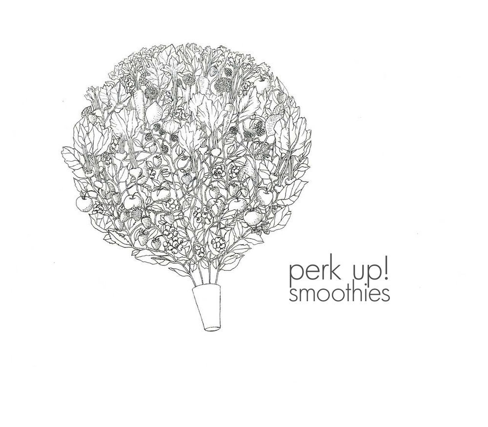 Design for Perk Up! Smoothies, a small business in Atlanta, GA.