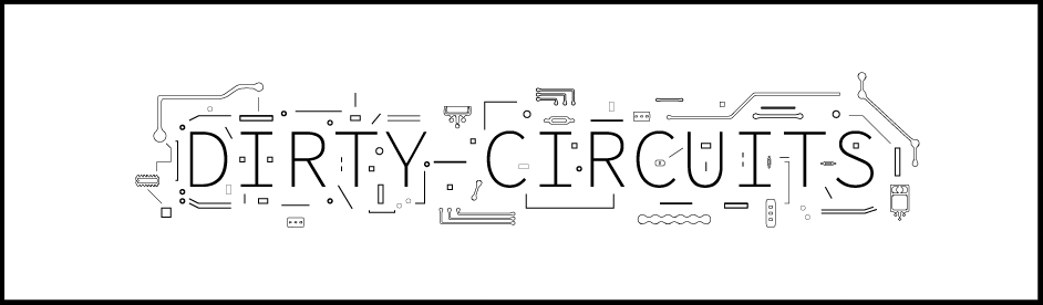 Logo design for DIRTY CIRCUITS, a circuit-bending and electronics repair company in Tallahassee, Florida.