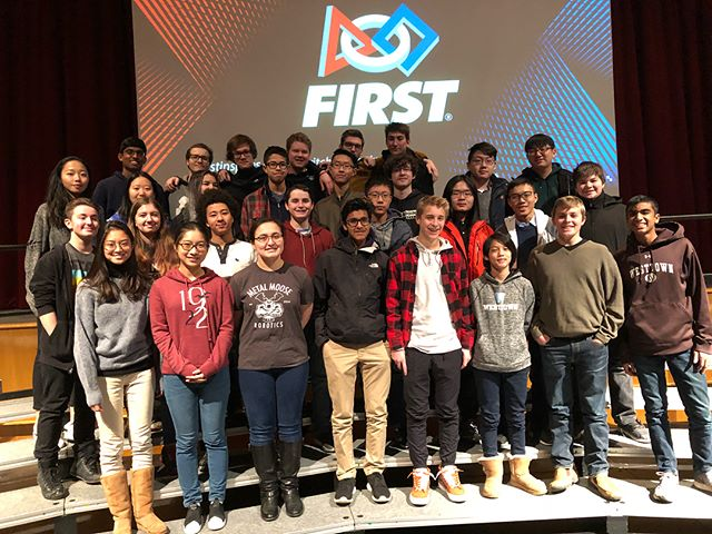 We are at Hatboro-Horsham HS attending the 2018 #firstpowerup kick-off. @westtownschool #omgrobots