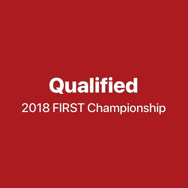 It's official: we've qualified for the FIRST Championship in Detroit! To our alliance members @1218vulcanrobotics and @flightcrew747, its been a pleasure working with you. See you guys at worlds in Detroit! @westtownschool #firstpowerup #omgrobots