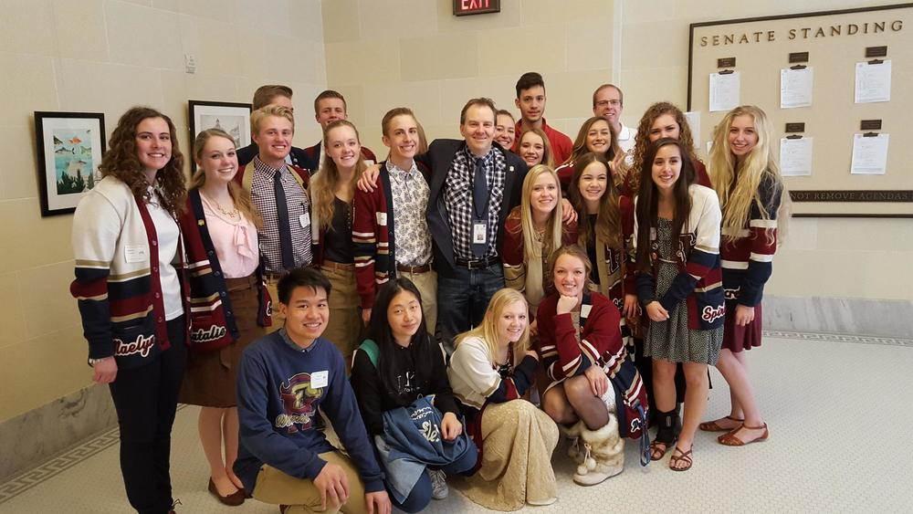 With the Student Government from Herriman High School