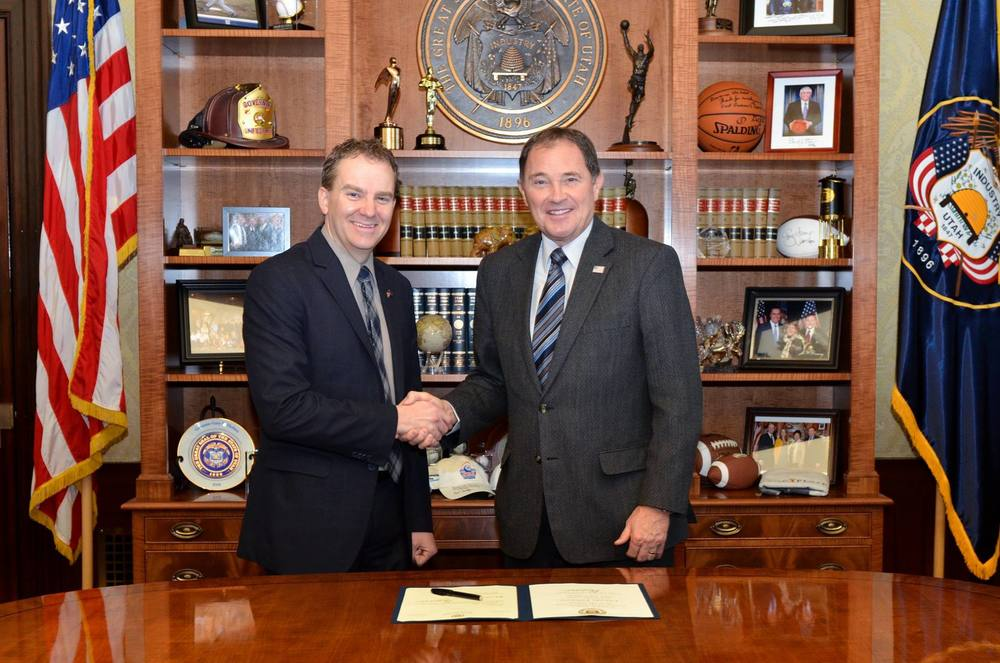I was honored to meet with Governor Herbert to be officially appointed to the Utah Senate.