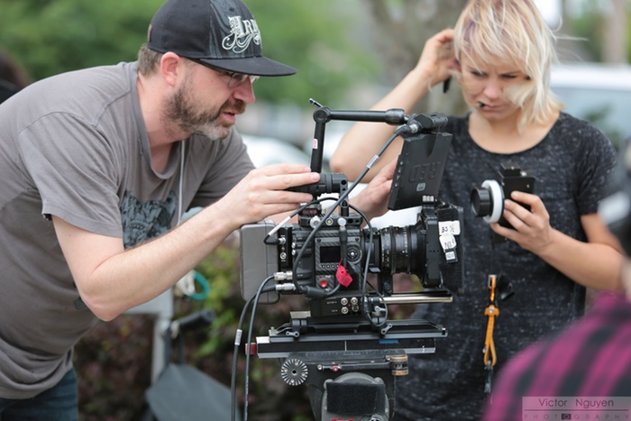 DP Mike Burke and 1st AC Kat Soulagnet