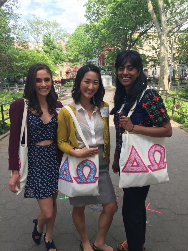 Delta Omega sister 4 eva. (Jessica Cannizzaro and Priya Patel)