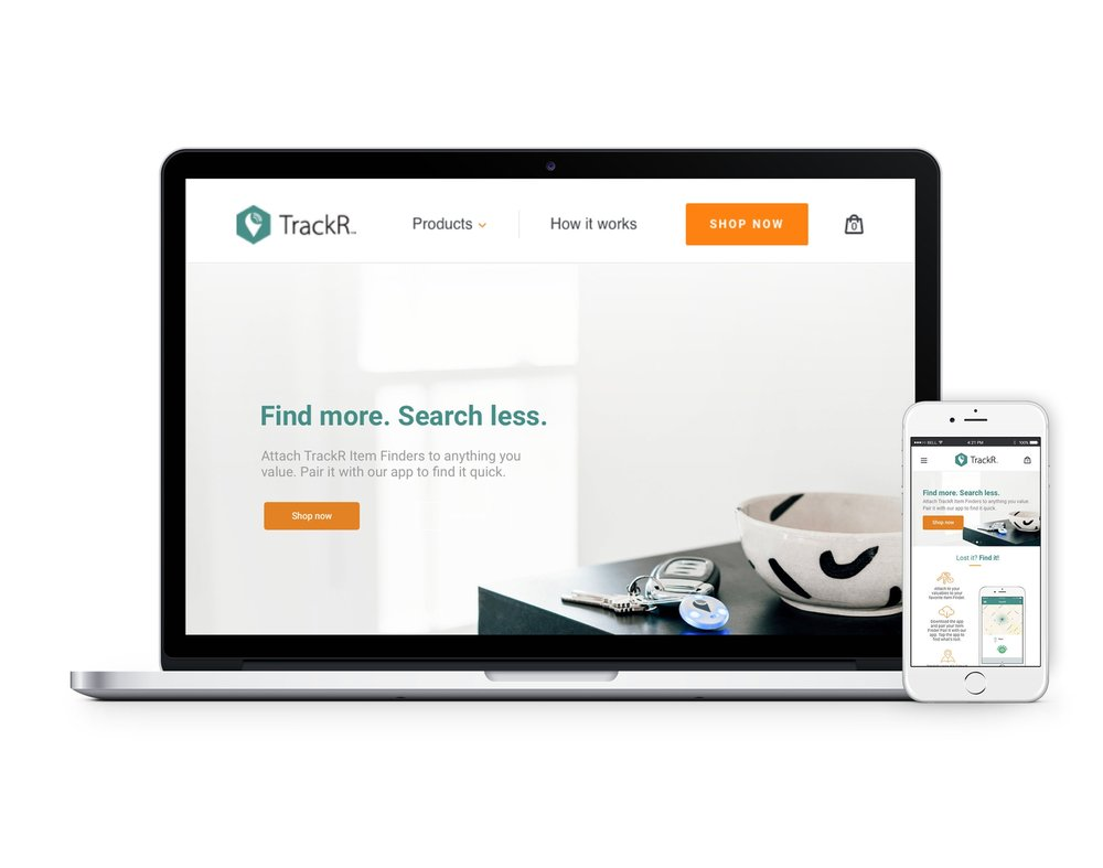 Responsive redesign of TrackR's homepage