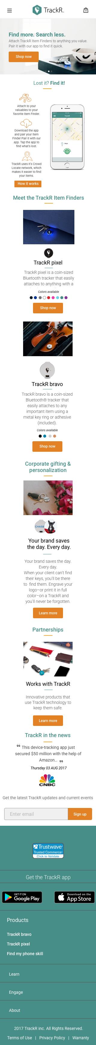 Mobile website mock up