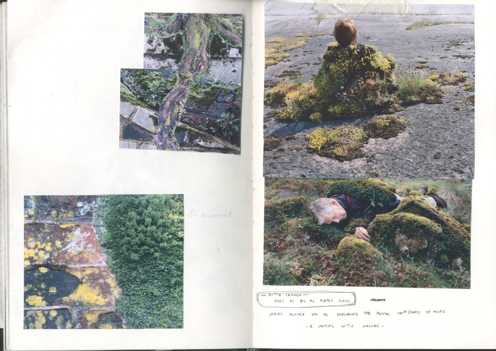 Collages and Ritta Ikonen's work