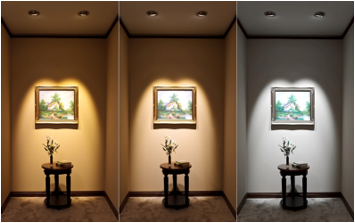 Color Temperature can impact perception of the space, as well as objects in the space.
