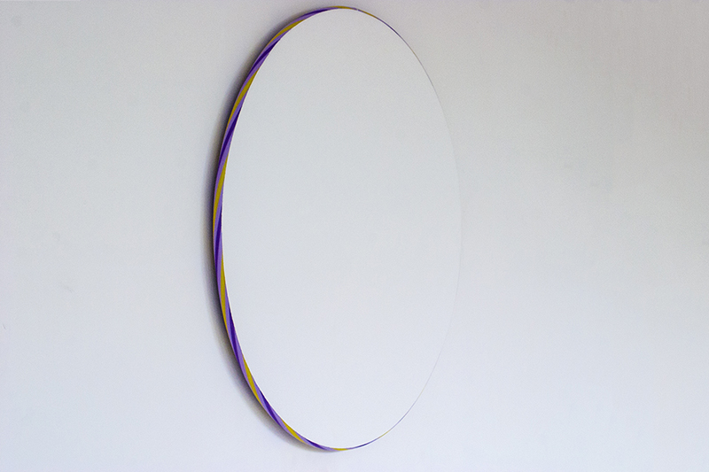 Return to Glory, Hula hoops, plaster & paint, 2014
