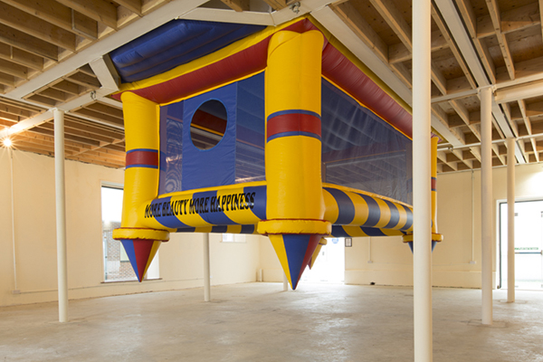 Gapfill:More beauty,more happiness, 700 x 350 x 350 cm, Bouncing castle,2013