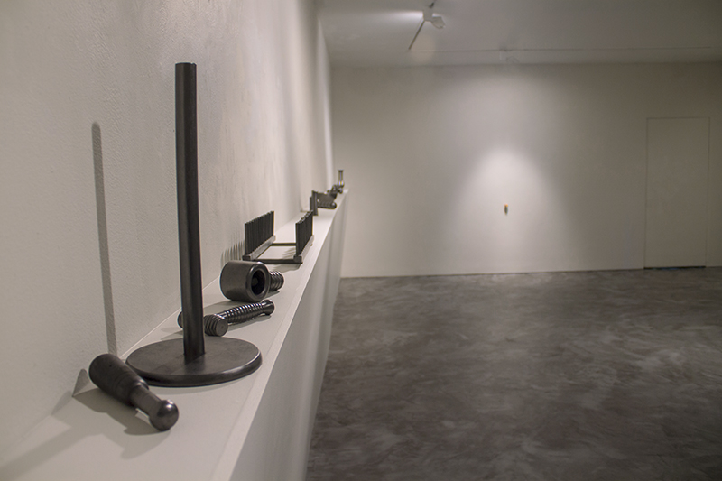 Agents of Change, Wooden household objects & graphite, Dimensions variable, 2012