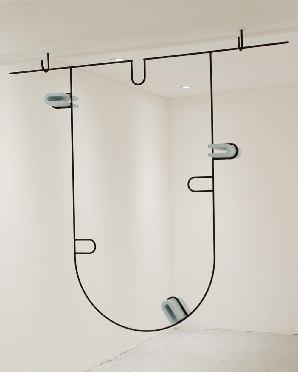 Limbo, Steel, lacquer, jesmonite, 120 x 125 x 16 cm