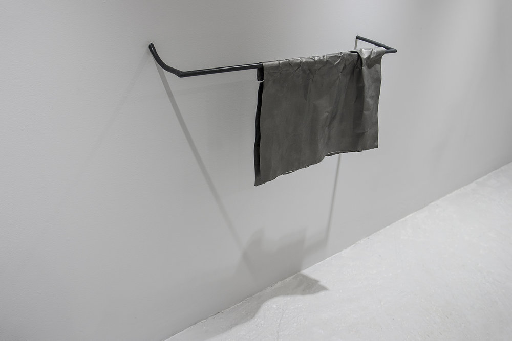 Untitled (Towel) Steel, paper, oil paint 45 x 80 x 20 cm, 2016