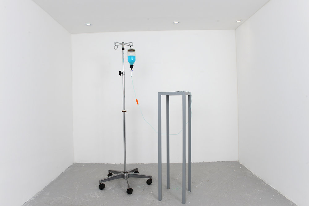How arid it is/ how fertile it is Medical IV drip stand, IV Bottle, Infusion Line, Copper Sulphate Solution, Zinc Jet Plate, Powder Coated Steal Stand    Dimension Variable,  2016
