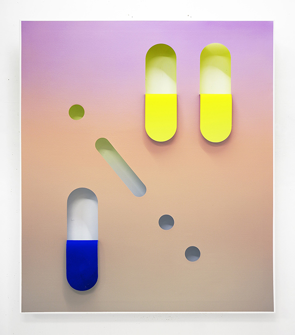 Untitled (Lavender/Peach/Light Grey)  Oil and acrylic on canvas 145 x 125 cm, 2015