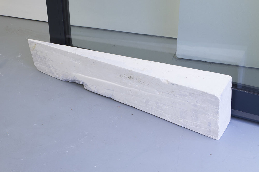 Door wedge Plaster of paris, pigment 100 x 22 x 15cm, 2017