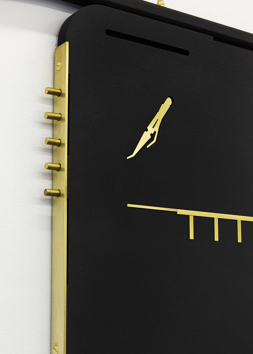 Graver (detail) Valchromat & brass 127.5 x 91 x 2.5 cm, 2018