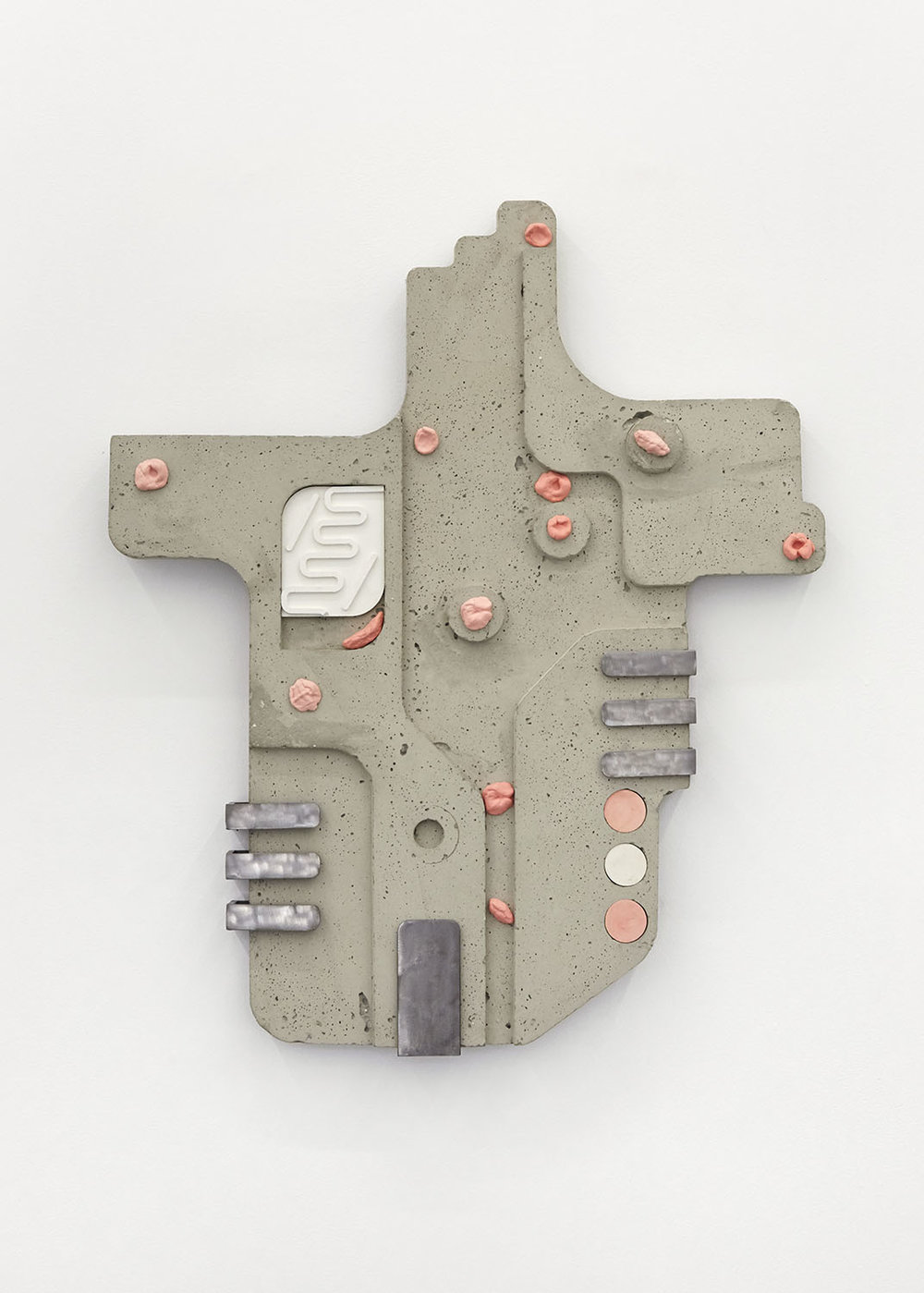 Rubble Bubble (mark) Concrete, steel, jesmonite cast chewing gum 69 x 58 x 4.5cm, 2018