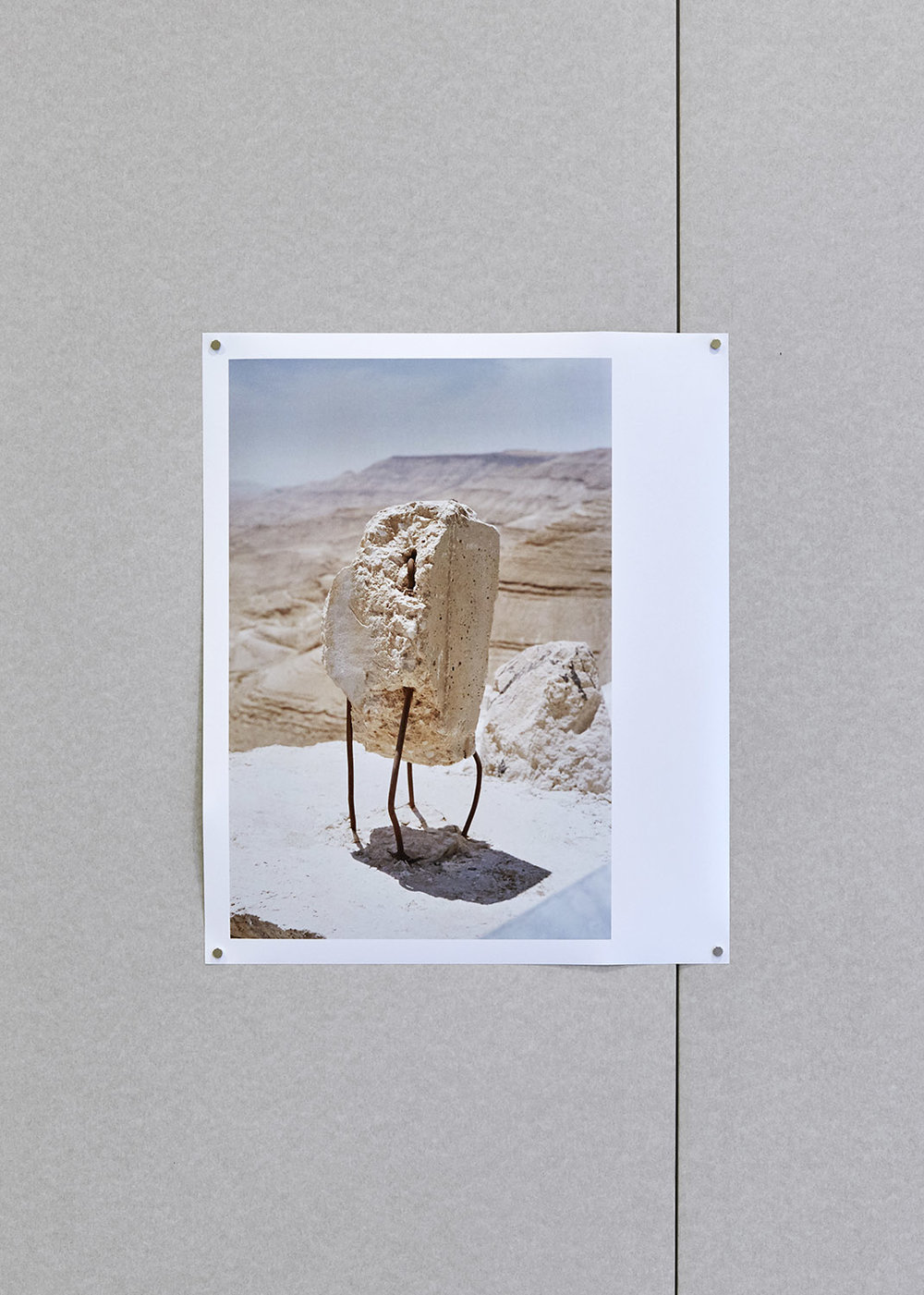 Sophie Chamberlain Untitled (Road side Wadi al-Mujib, Karak) Hand printed photograph on Fuji crystal archive paper 61 x 51 cm, Edition of 6, 2018