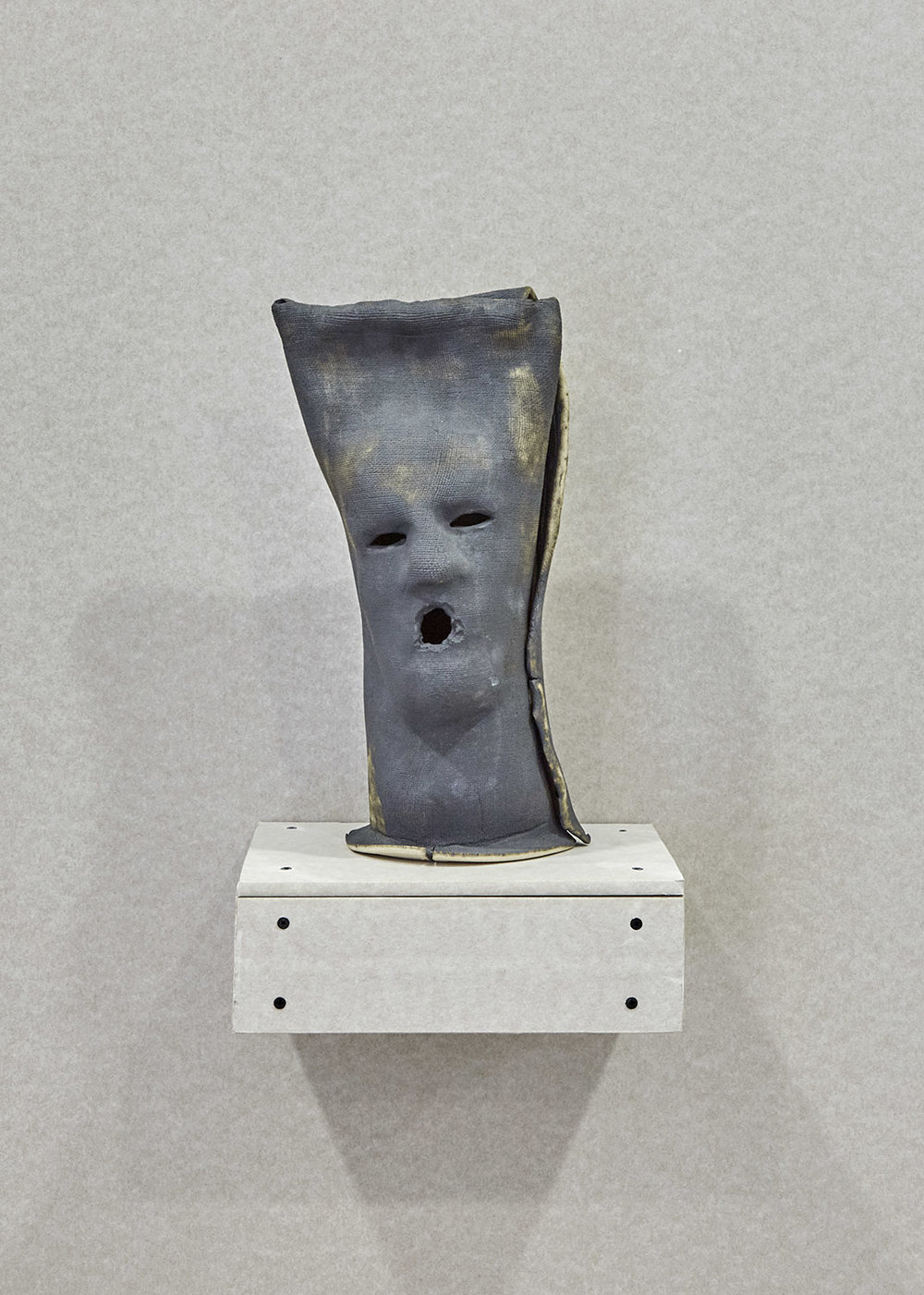 Jonathan Baldock Sack Mask Oxidised Iron Stoneware 45 x 25 x 25cm, 2017