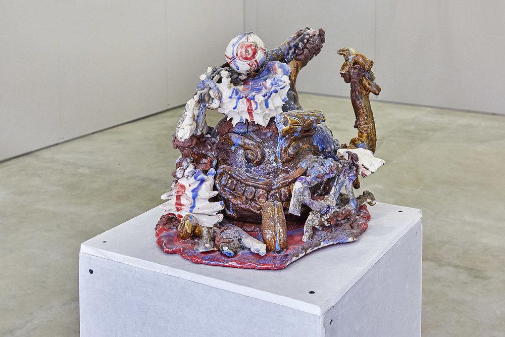 Tom Volkaert & Benny Van den Meulengracht-Vrancx Bad Clay 2 (SPITFIRE/ ECLECTIC MINE WORKER IN 2020 ) Glazed Ceramics 35 x 35 x 35 cm, 2017