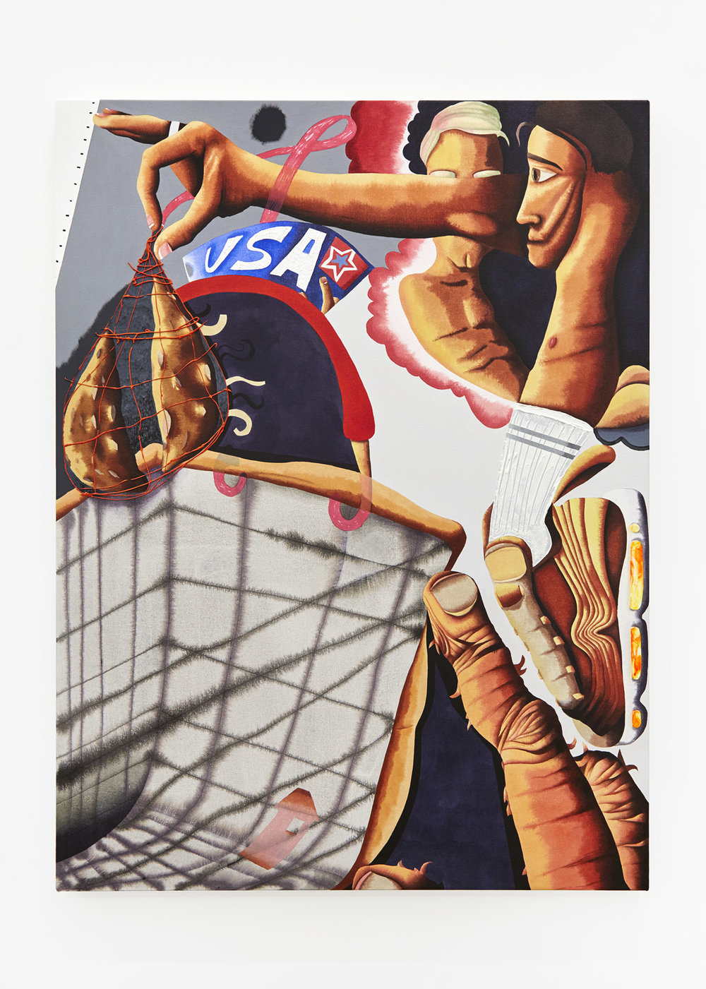 Shopping Acrylic on canvas 100 x 75cm, 2018