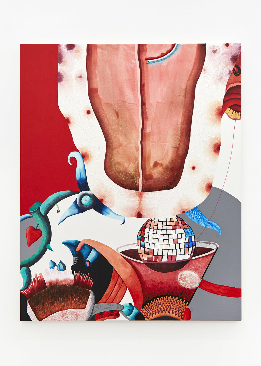 Tongue Acrylic on canvas 150 x 120cm, 2018