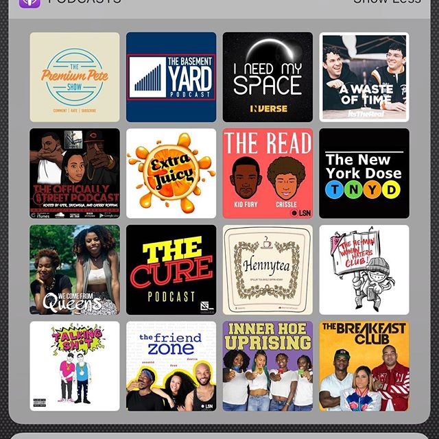 What #podcast are in your rotation?? Let me put you on because Some of these podcast are my people!!! #ThankMeLater