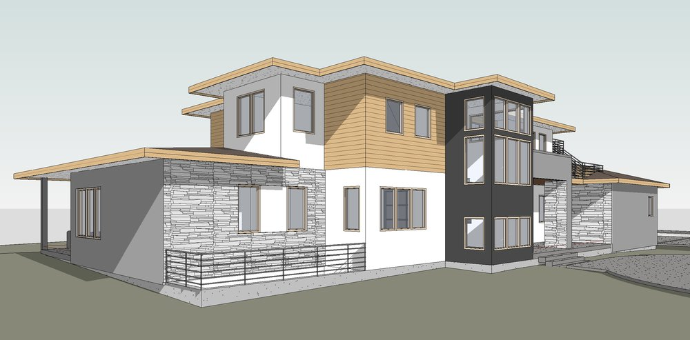 Ravulapati Residence3 - 3D View - FROM NORTH.jpg