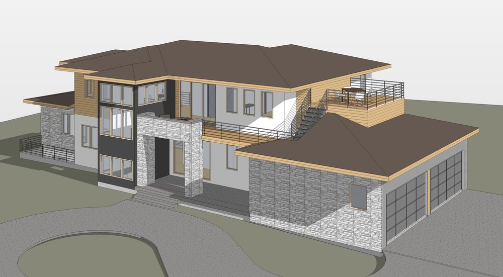 Ravulapati Residence3 - 3D View - FRONT ABOVE.jpg