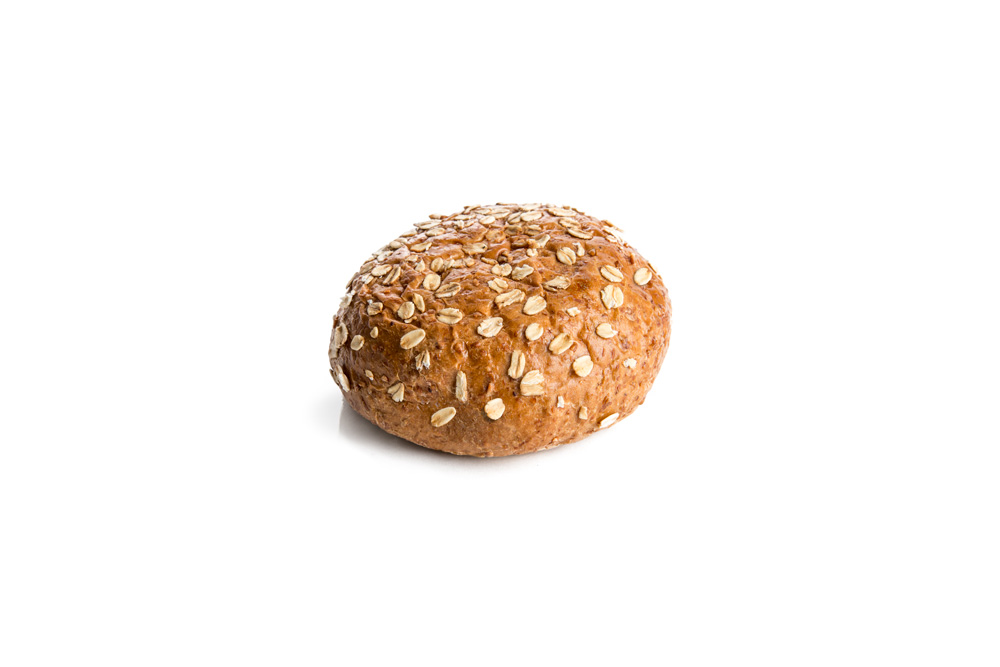 Oat-topped Wheat Bun