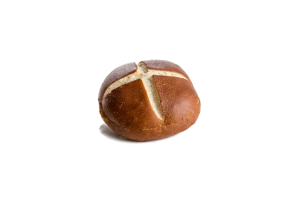 Pretzel Bun (sliced) 4 Pack