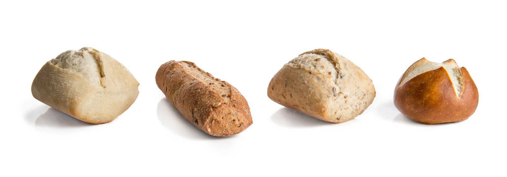Signature: Campo Roll, 9-Grain Breadstick, Multigrain Campo Roll, Pretzel Round