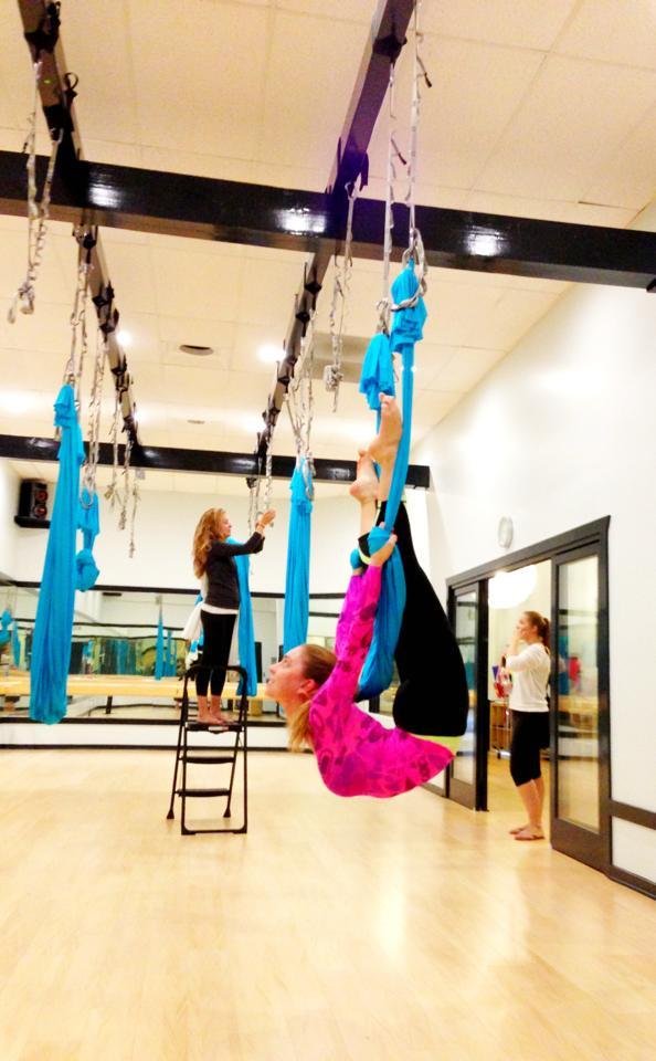 1 August 2013. Calabasas, CA. Anti-gravity Fitness.