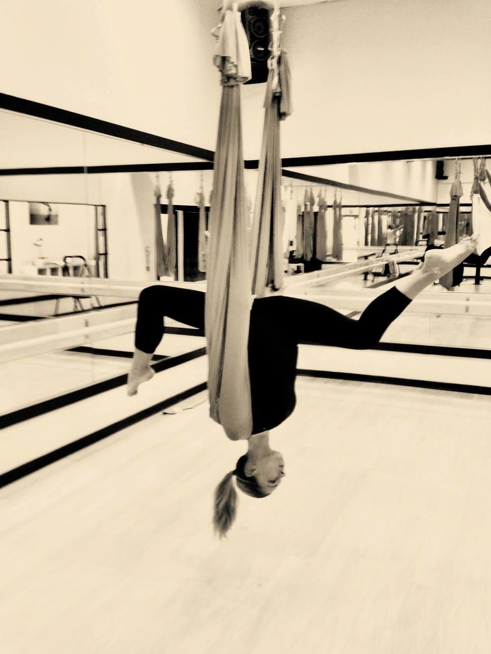 21 August 2013. Calabasas, CA. Anti-gravity fitness.