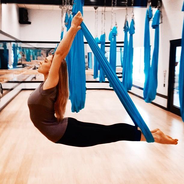 21 September 2013. Calabasas, CA. Anti-gravity fitness.