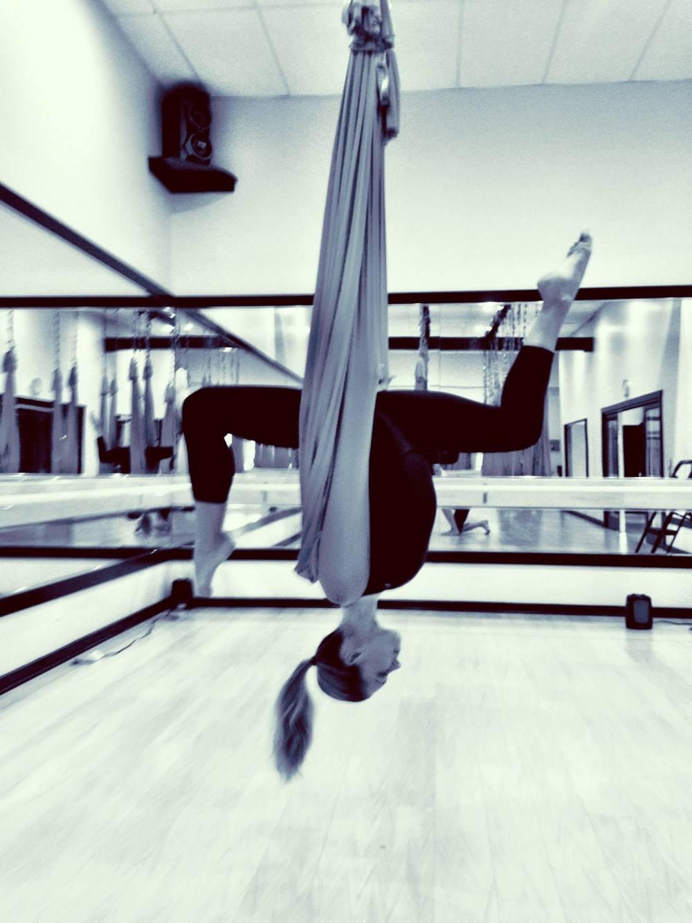 24 August 2013. Calabasas, CA. Anti-gravity fitness.