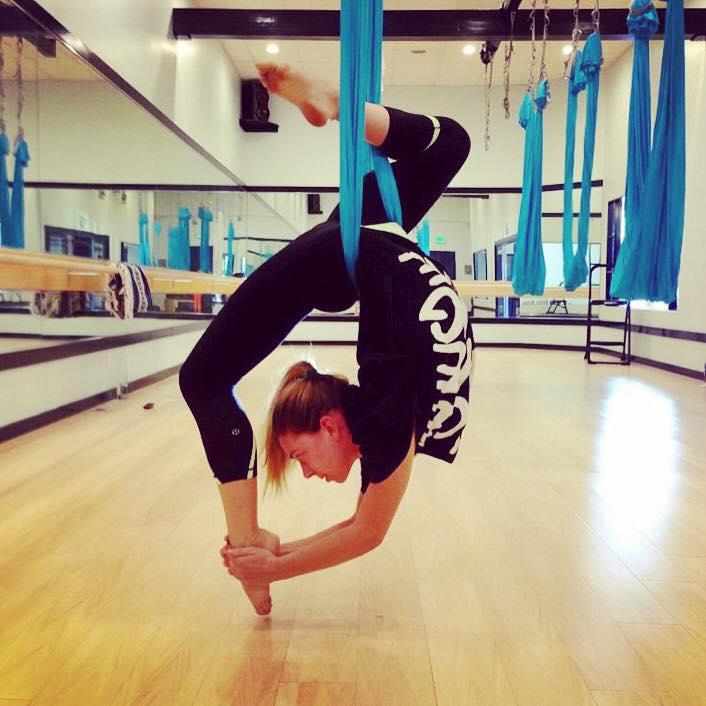5 October 2013. Calabasas, CA. Anti-gravity fitness.