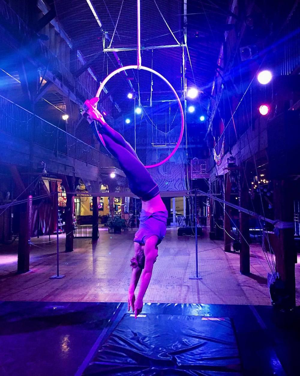 15 December 2015. Seattle, WA. Aerial hoop.