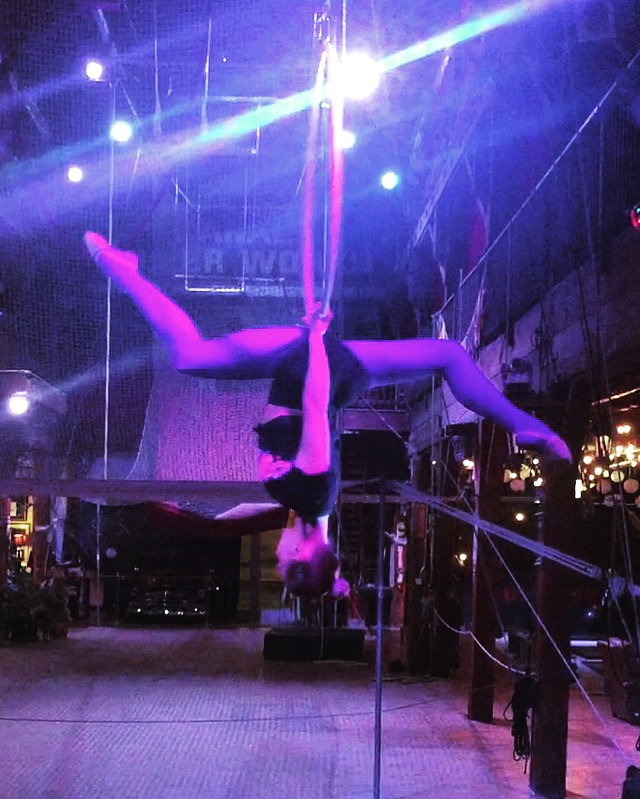 1 March 2016. Seattle, WA. Aerial hoop.
