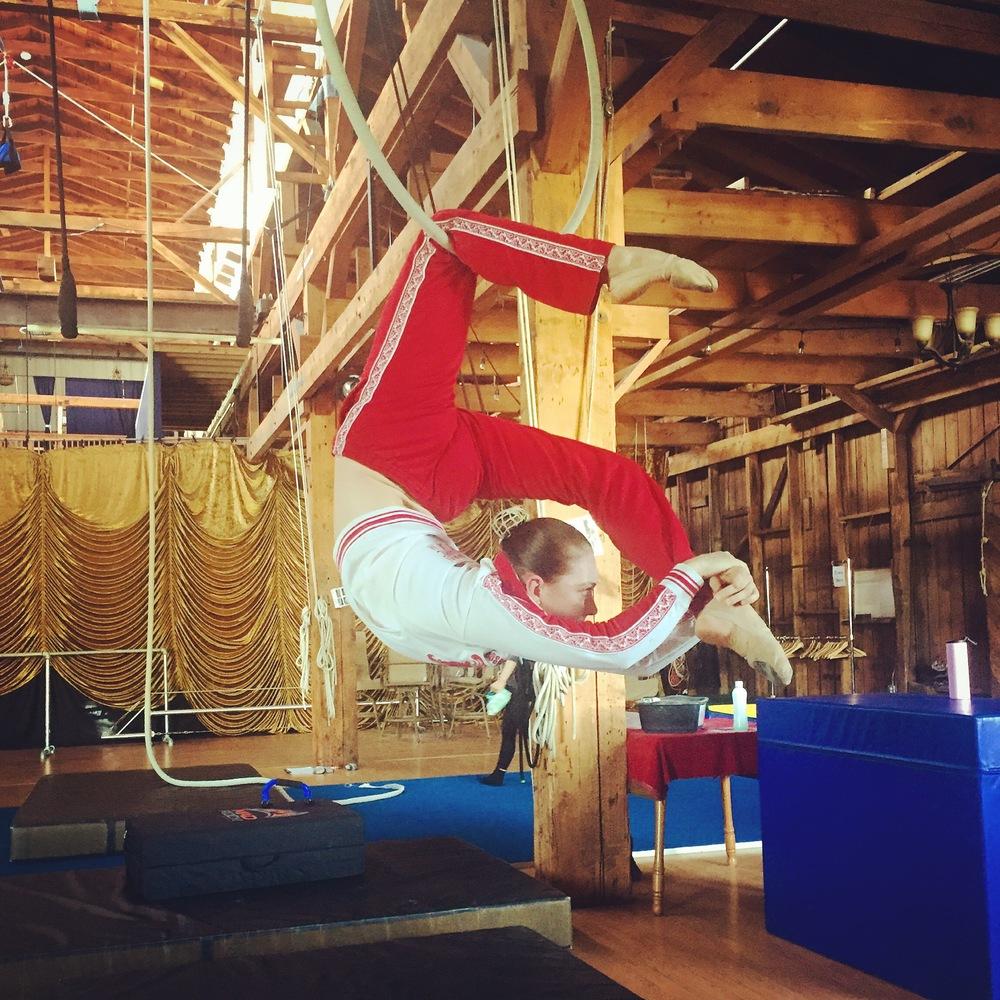 12 June 2016. Seattle, WA. Aerial hoop.