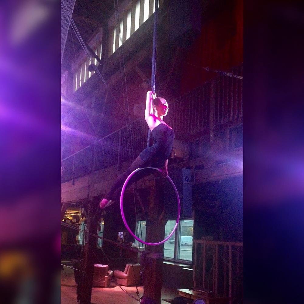 15 June 2016. Seattle, WA. Aerial hoop.
