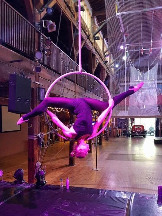 28 June 2016. Seattle, WA. Aerial hoop.