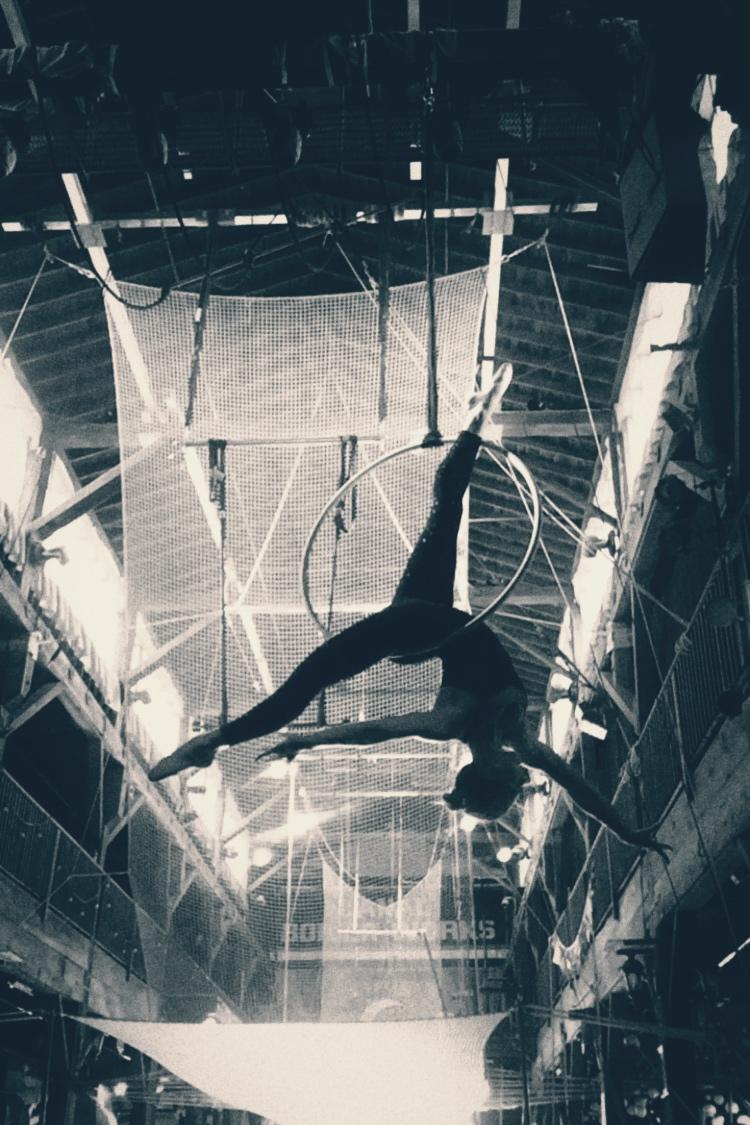 30 August 2016. Seattle, WA. Aerial hoop.