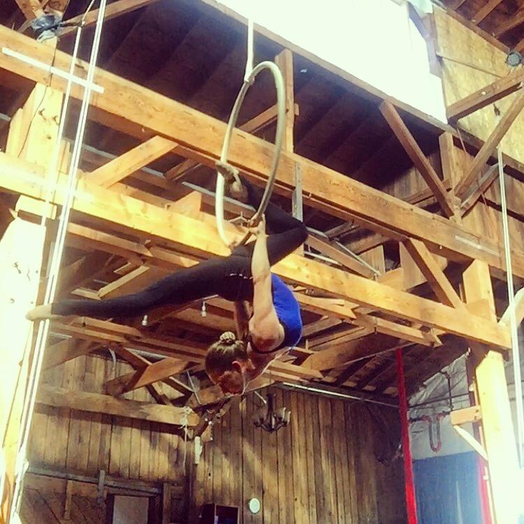 10 September 2016. Seattle, WA. Aerial hoop.