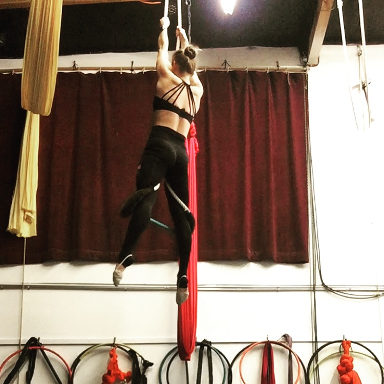 14 January 2017. Orange County, CA. Dance Trapeze.