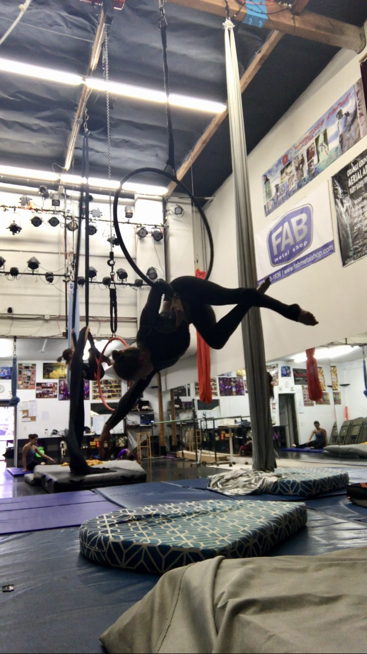 21 January 2017. Orange County, CA. Dance Trapeze.