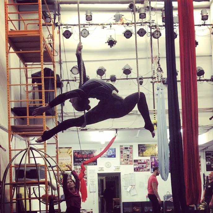 1 February 2017. Orange County, CA. Trapeze.